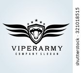 Viper Army Snake Logo Crest...
