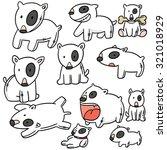 vector set of bull terrier doll | Shutterstock .eps vector #321018929