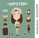 hipster girl character with... | Shutterstock .eps vector #321023459