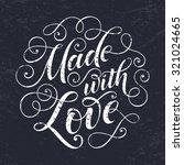 vector text on texture... | Shutterstock .eps vector #321024665