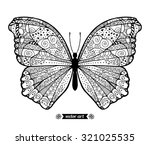 amazing fly butterfly with dots ... | Shutterstock .eps vector #321025535