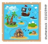 treasure map vector... | Shutterstock .eps vector #321025949