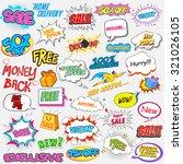 illustration of in comic blast... | Shutterstock .eps vector #321026105