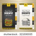 vintage chalk drawing fast food ... | Shutterstock .eps vector #321030335