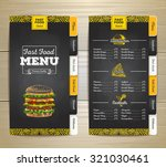 vintage chalk drawing fast food ... | Shutterstock .eps vector #321030461