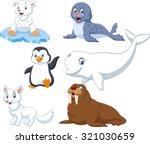 arctics animals collection set  | Shutterstock .eps vector #321030659