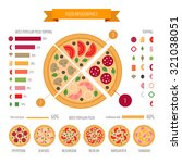 pizza infographic | Shutterstock .eps vector #321038051