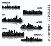 6 city silhouette in england ... | Shutterstock .eps vector #321051881