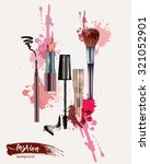 cosmetics and fashion... | Shutterstock .eps vector #321052901