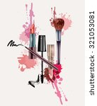 cosmetics and fashion... | Shutterstock .eps vector #321053081