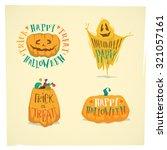 halloween emblems | Shutterstock .eps vector #321057161