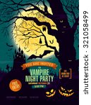 halloween party. vector... | Shutterstock .eps vector #321058499