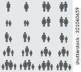 family icons set | Shutterstock .eps vector #321060659