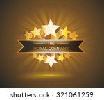 vector label sign with gold... | Shutterstock .eps vector #321061259