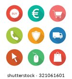 web store flat design icons set....