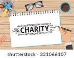 vector charity concept template | Shutterstock .eps vector #321066107