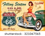 filling station retro banner | Shutterstock .eps vector #321067565