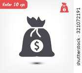 money bag  icon. vector  eps 10