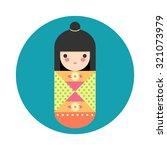 vector illustration of round... | Shutterstock .eps vector #321073979