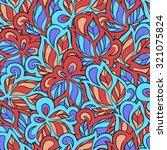 seamless ornamental pattern in... | Shutterstock .eps vector #321075824