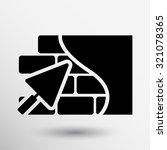 brick wall icon trowel icon... | Shutterstock .eps vector #321078365