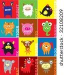 chinese horoscope doodles   Shutterstock .eps vector #32108209