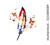 creative feather design | Shutterstock .eps vector #321084089