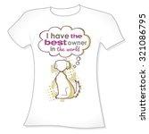 t shirt print  dog silhouette.... | Shutterstock .eps vector #321086795