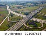 highway intersection viewed... | Shutterstock . vector #321087695