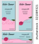 vector banner with roses | Shutterstock .eps vector #321089321