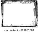 highly detailed grunge frame ...   Shutterstock . vector #321089801
