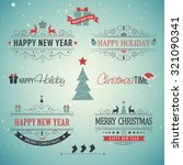 christmas set   labels  emblems ... | Shutterstock .eps vector #321090341