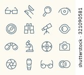 optical icon set | Shutterstock .eps vector #321090581