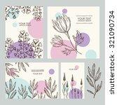 vector set   floral backgrounds.... | Shutterstock .eps vector #321090734