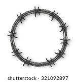 crown with barbed wire | Shutterstock .eps vector #321092897