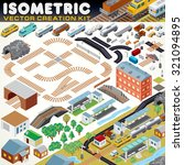 3d isometric city map kit.... | Shutterstock .eps vector #321094895
