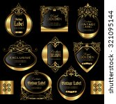 gold framed labels   vector set   Shutterstock .eps vector #321095144