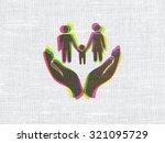 insurance concept  cmyk family... | Shutterstock . vector #321095729