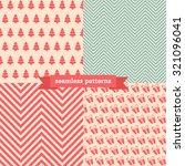 christmas seamless vector... | Shutterstock .eps vector #321096041