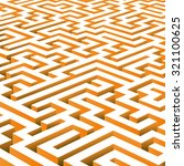 vector maze background | Shutterstock .eps vector #321100625