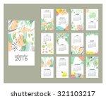 calendar 2016. templates with...   Shutterstock .eps vector #321103217
