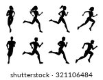 running people silhouettes.... | Shutterstock .eps vector #321106484