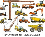 set of heavy construction... | Shutterstock .eps vector #321106685