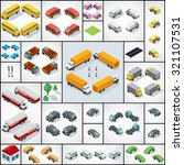 collection of 3d isometric cars ... | Shutterstock .eps vector #321107531
