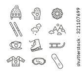 vector linear winter activities ... | Shutterstock .eps vector #321107699