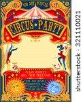 circus theatre fairground retro ... | Shutterstock .eps vector #321110021