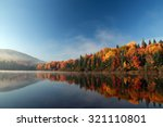 autumn forest reflected in... | Shutterstock . vector #321110801