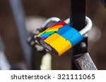 Lgbt Love Locks On A Bridge In...