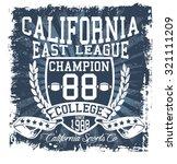 california team design  east... | Shutterstock .eps vector #321111209