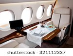 business jet airplane interior | Shutterstock . vector #321112337